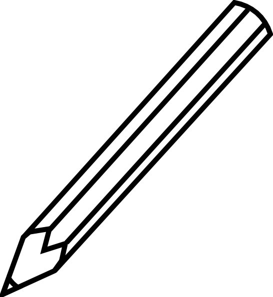Free clipart images black and white pencil