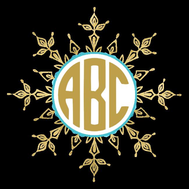 Snowflake text clipart royalty free download Free Custom Snowflake Monogram | Customize Online royalty free download