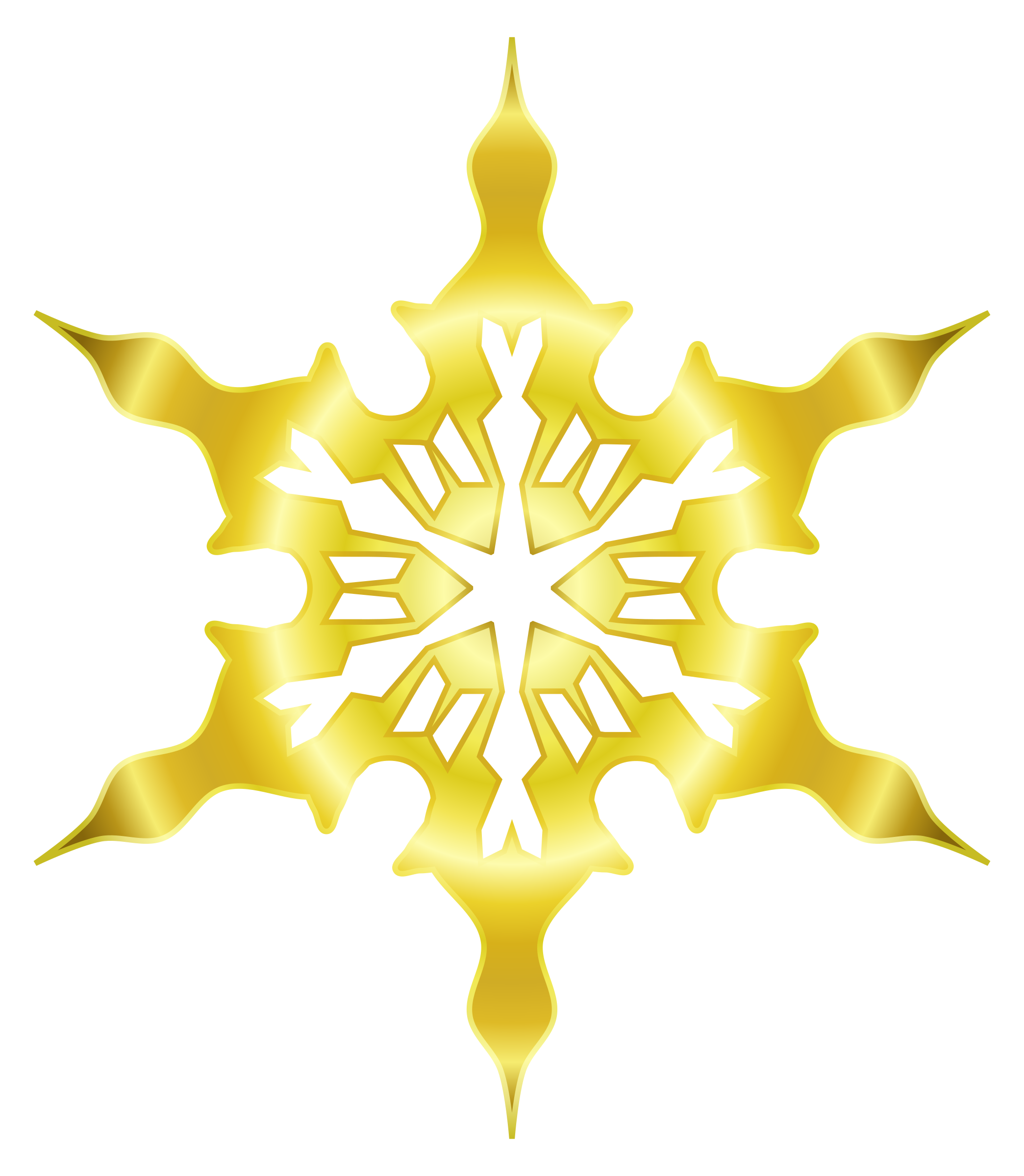 Snowflake clipart for microsoft office png royalty free stock Clipart - Snowflake 8 (gold) png royalty free stock