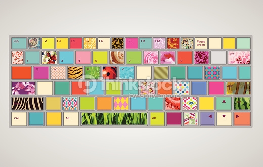 Colorful computer keyboard clipart clip freeuse stock Colorful Keyboard Vector Art | Thinkstock clip freeuse stock