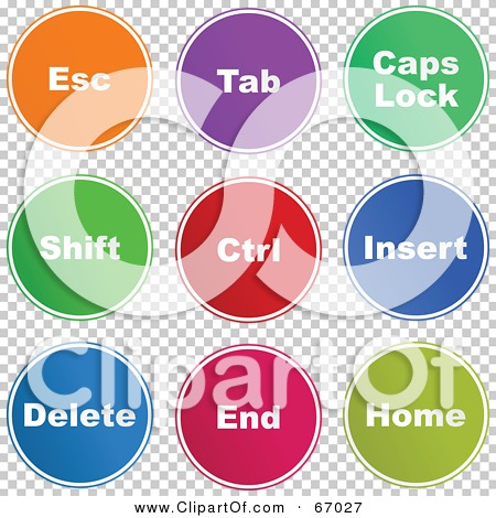 Colorful computer keyboard clipart clip art black and white Royalty-Free (RF) Clipart Illustration of a Digital Collage Of ... clip art black and white