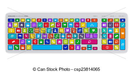 Colorful computer keyboard clipart jpg freeuse download Colorful computer keyboard clipart - ClipartFest jpg freeuse download