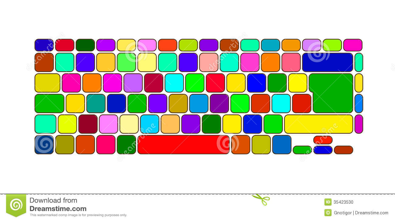 Colorful computer keyboard clipart png royalty free stock Color Keyboard Stock Photo - Image: 35423530 png royalty free stock
