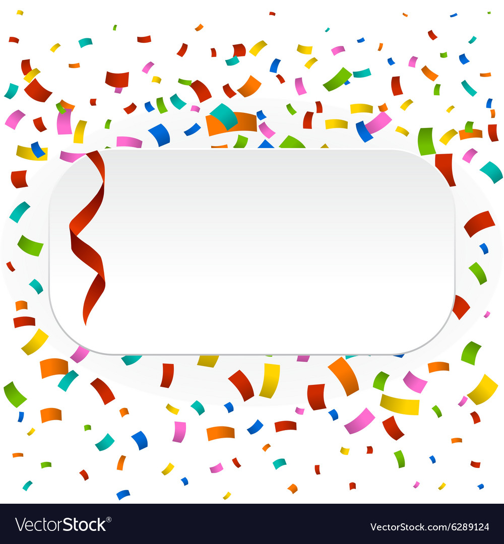 Colorful confetti clipart svg royalty free stock Colorful confetti background vector image on VectorStock svg royalty free stock