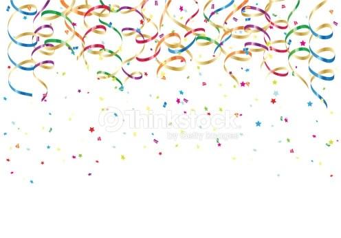 Colorful confetti clipart clip art transparent library Party streamers and colorful confetti on white background ... clip art transparent library