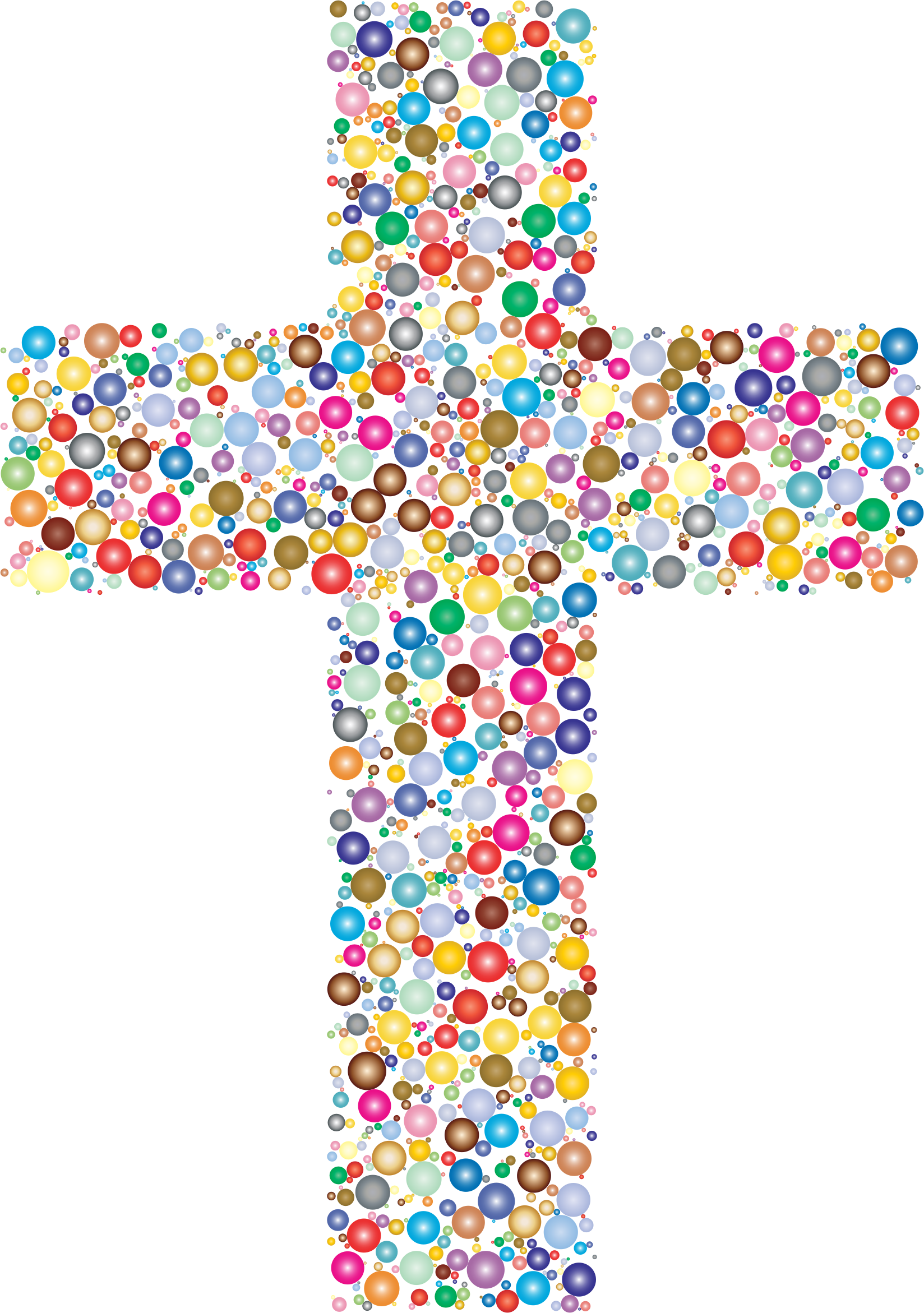 Colorful cross clipart banner free Clipart - Colorful Cross Circles 2 banner free