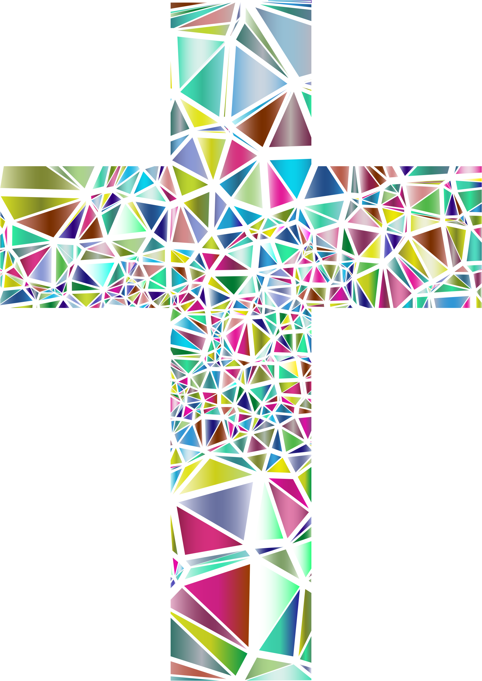 Stained glass cross clipart jpg freeuse library Clipart - Low Poly Stained Glass Cross 3 No Background jpg freeuse library