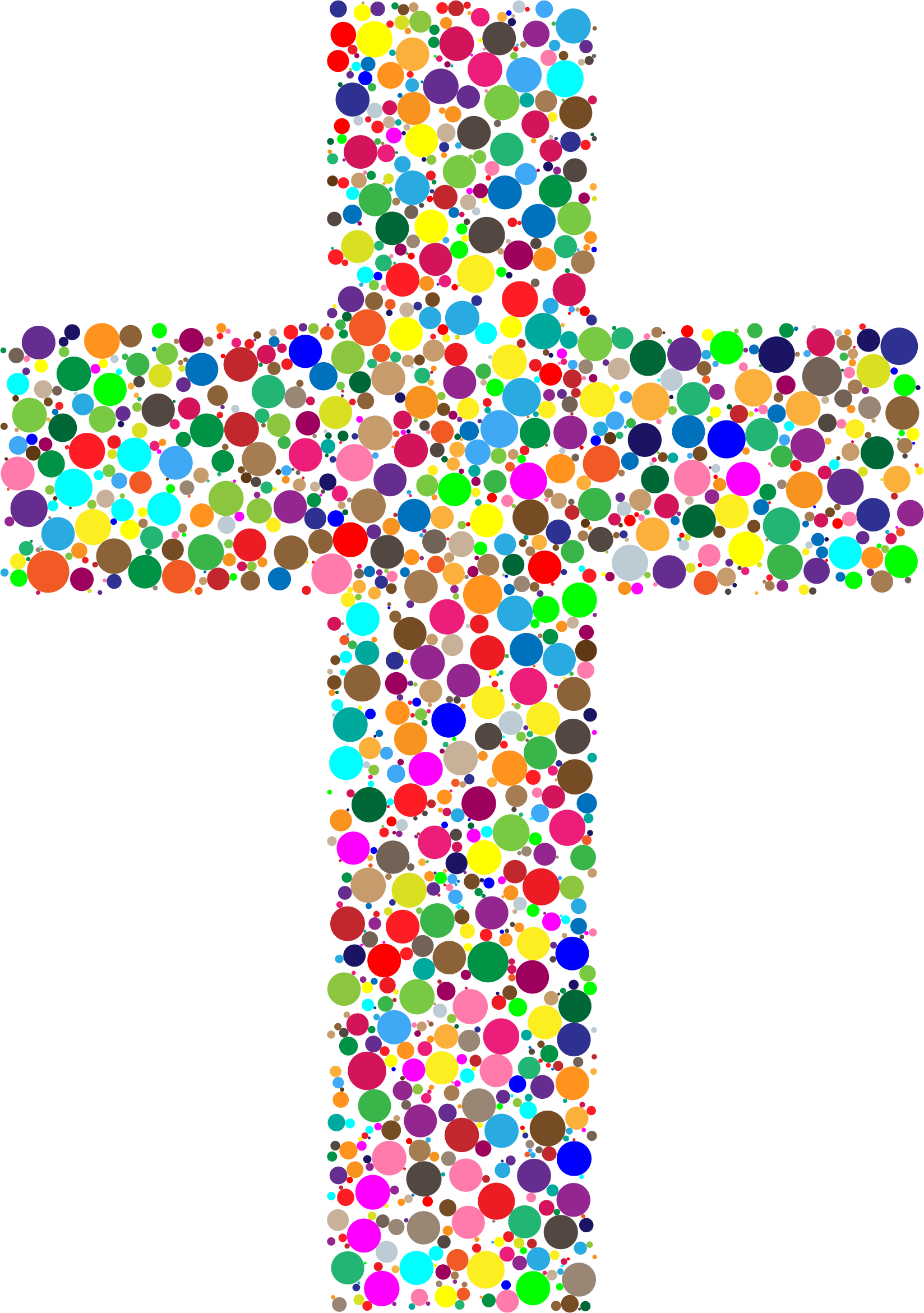 Colorful cross clipart image black and white Clipart - Colorful Cross Circles image black and white