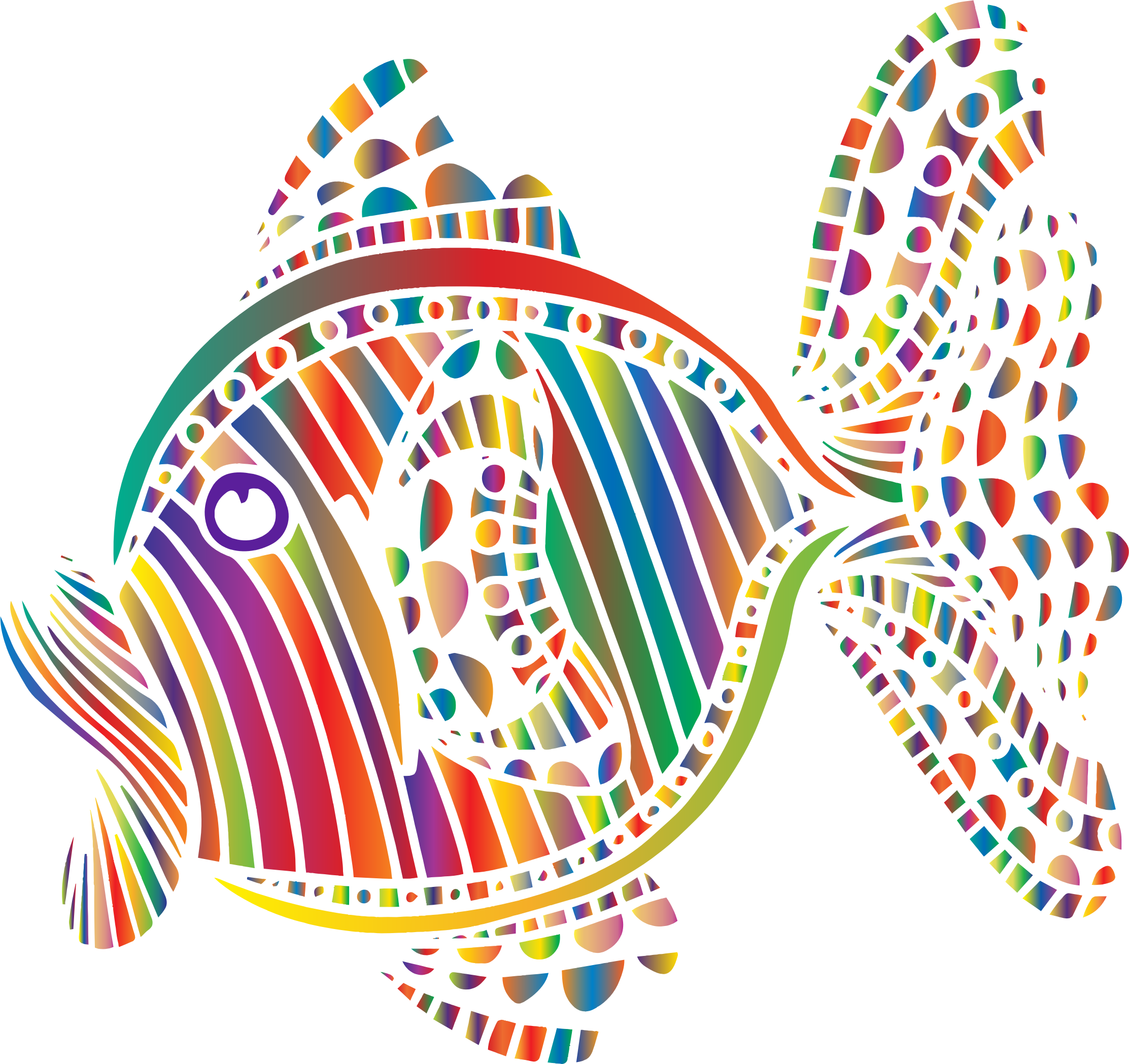 Colorful fish clipart image Clipart - Abstract Colorful Fish 6 image