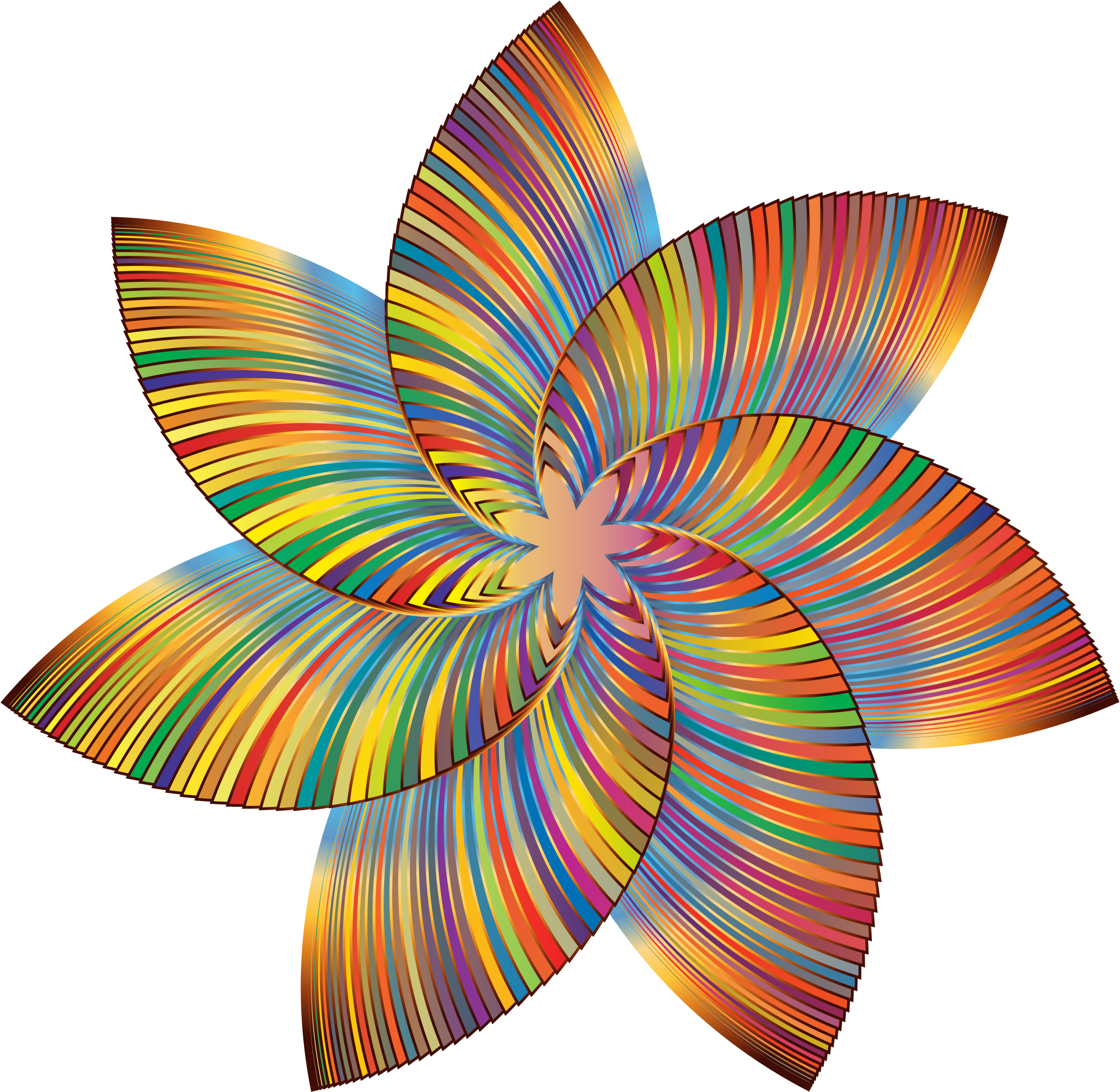 Colorful flower clipart jpg transparent download Clipart - Colorful Flower Line Art 2 jpg transparent download