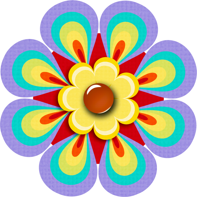 Colorful flower clipart graphic freeuse KMILL_flower-1.png | Pinterest | Flowers, Clip art and Button flowers graphic freeuse