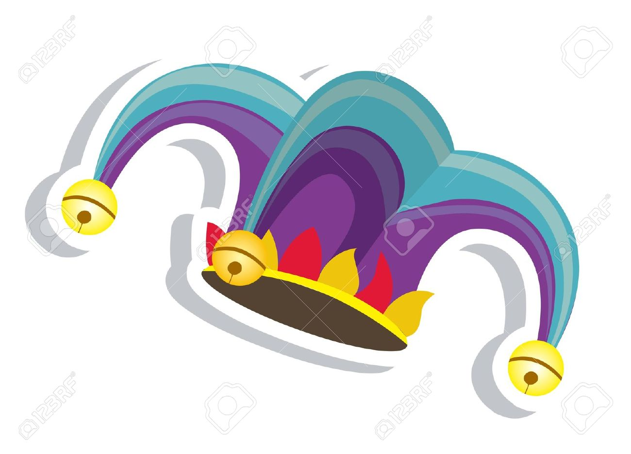 Colorful fool clipart cute clip library stock Colorful jester hat clipart cute - ClipartFest clip library stock