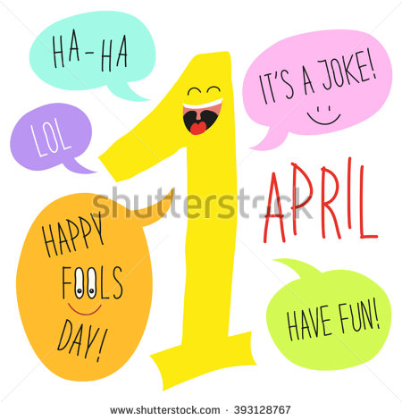 Colorful fool clipart cute banner black and white download Cute April Fools Day Background Festive Stock Vector 393130048 ... banner black and white download