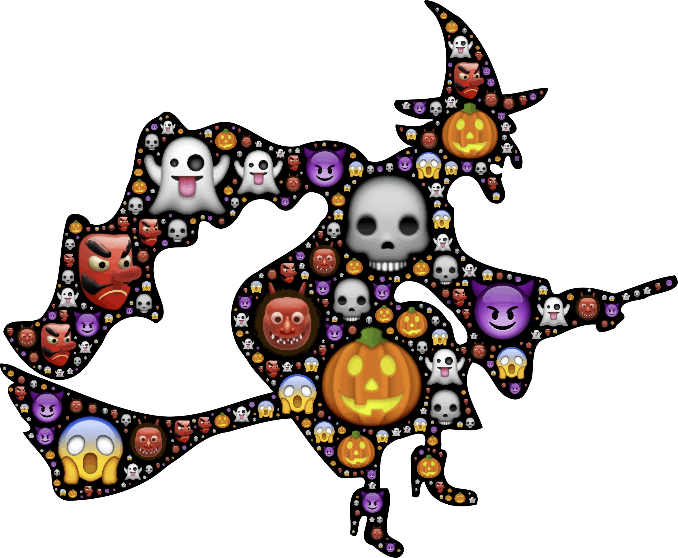 Colorful halloween clipart graphic royalty free library Clipart - Colorful Halloween Witch graphic royalty free library