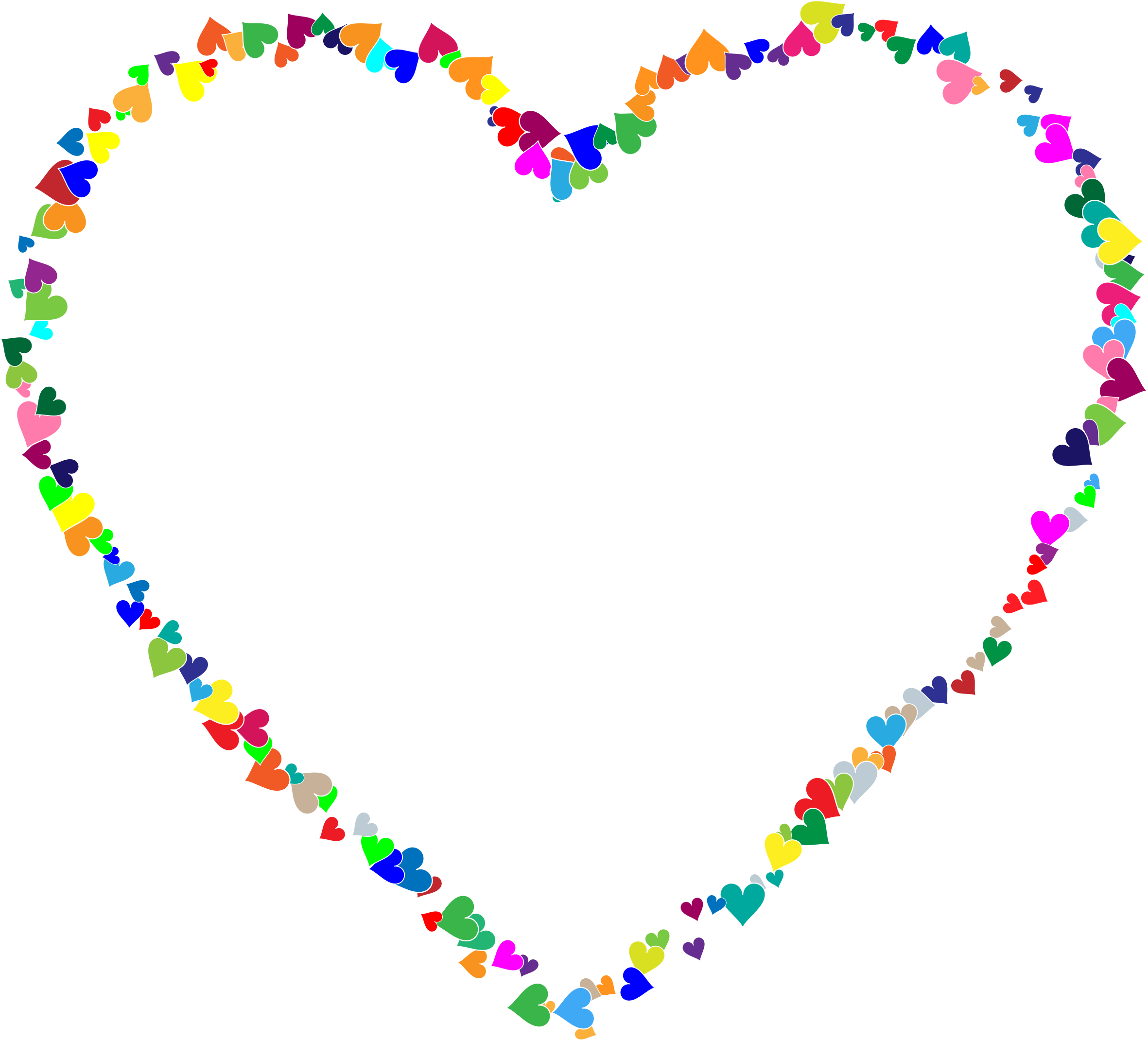 Heart frame clipart png transparent library Clipart - Colorful Hearts Frame png transparent library
