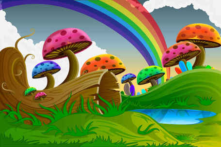 Colorful landscape clipart image stock Free Cartoon colorful mushroomss Clipart and Vector Graphics ... image stock