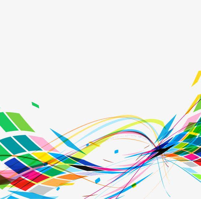 Colorful line clipart