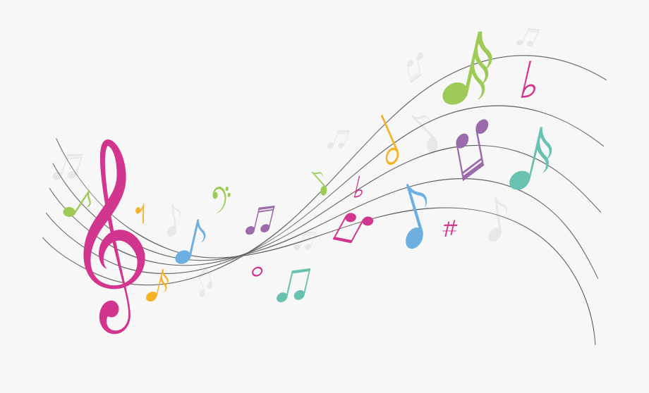 Colorful music notes clipart no background picture transparent download Colorful Notes On A Staff Png - Transparent Background Colorful ... picture transparent download