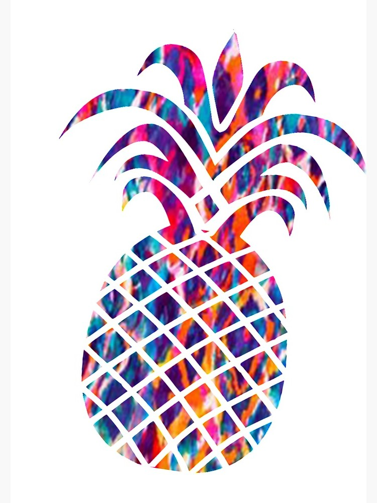 Colorful pineapple clipart svg library download Colorful Pineapple   Spiral Notebook svg library download