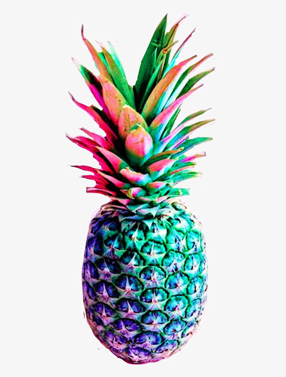 Colorful pineapple clipart picture Rainbow Clipart Pineapple - Colorful Pineapple Pink Background ... picture