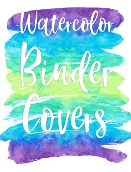 Colorful science clipart for a binder label picture stock Binder Covers - Watercolor Theme - EDITABLE | TpT Language Arts ... picture stock