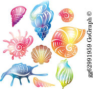 Colorful seashell clipart clip art download Colorful Seashell Clip Art - Royalty Free - GoGraph clip art download
