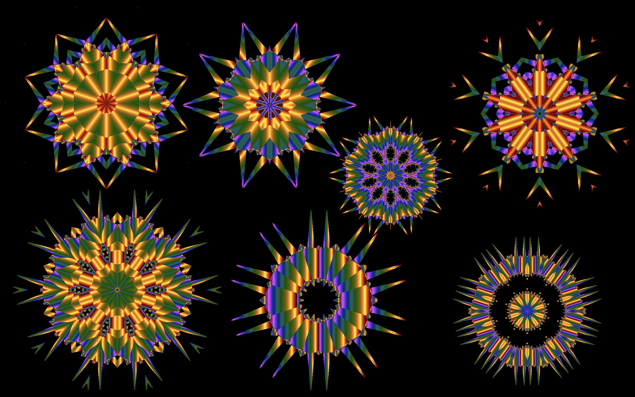 Rainbow snowflake clipart clip art library Clipart - Rainbow Snowflakes clip art library