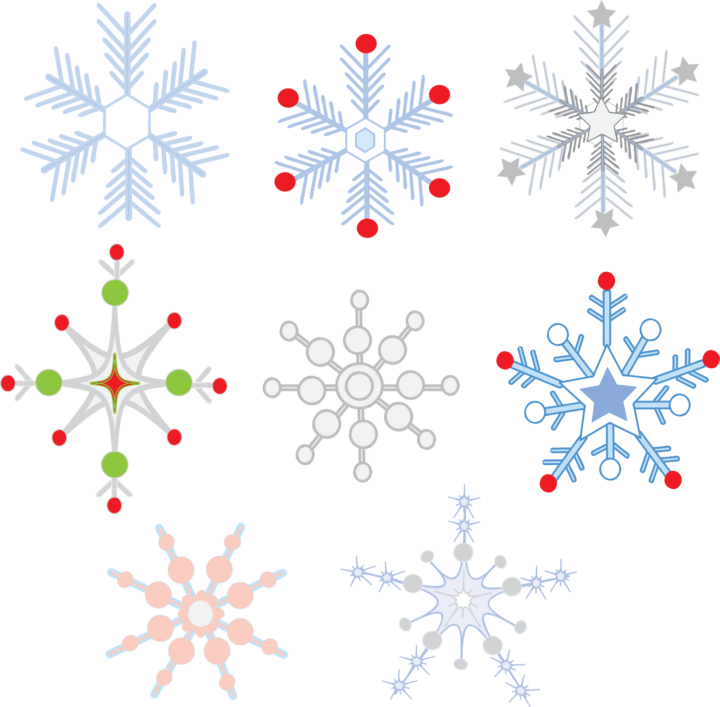 Library Of Colorful Snowflake Picture Black And White Png Files Clipart Art 2019