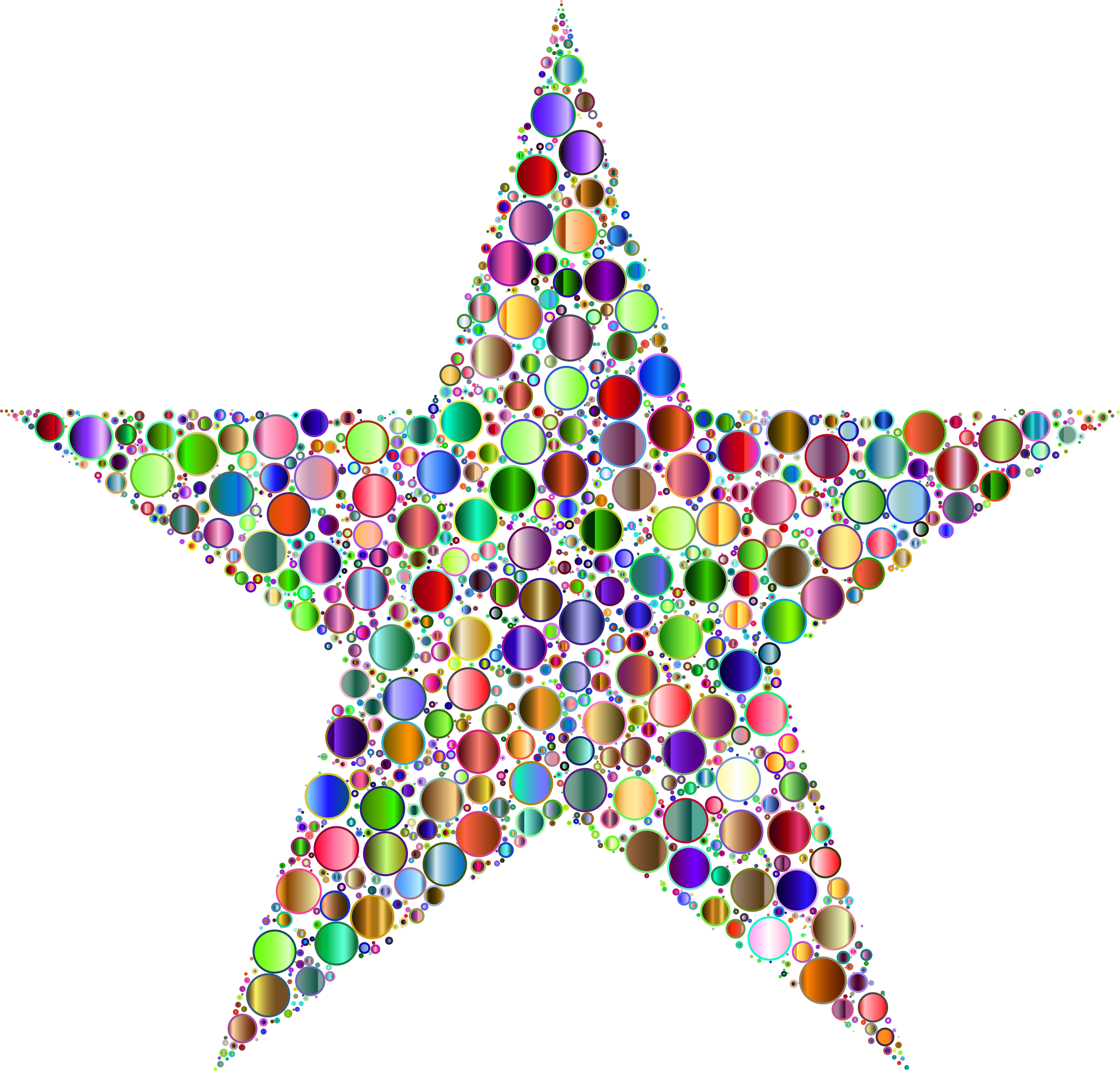 Colorful star clipart vector free download Colorful Circles Star 8 No Background Icons PNG - Free PNG and Icons ... vector free download