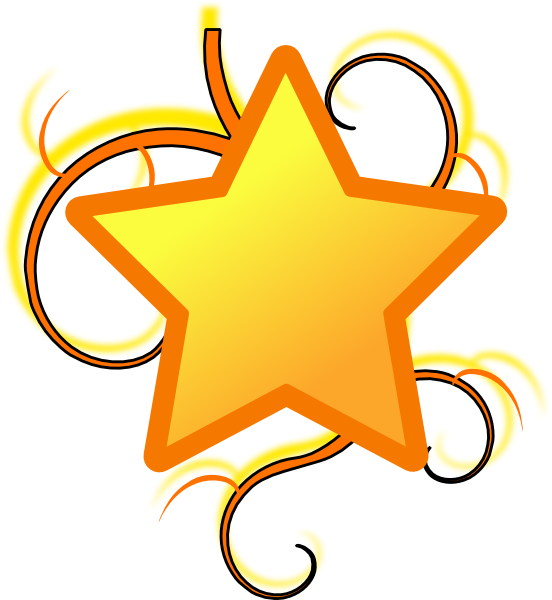 Free clipart gold star freeuse Star Swirl Clip Art at Clker.com - vector clip art online, royalty ... freeuse