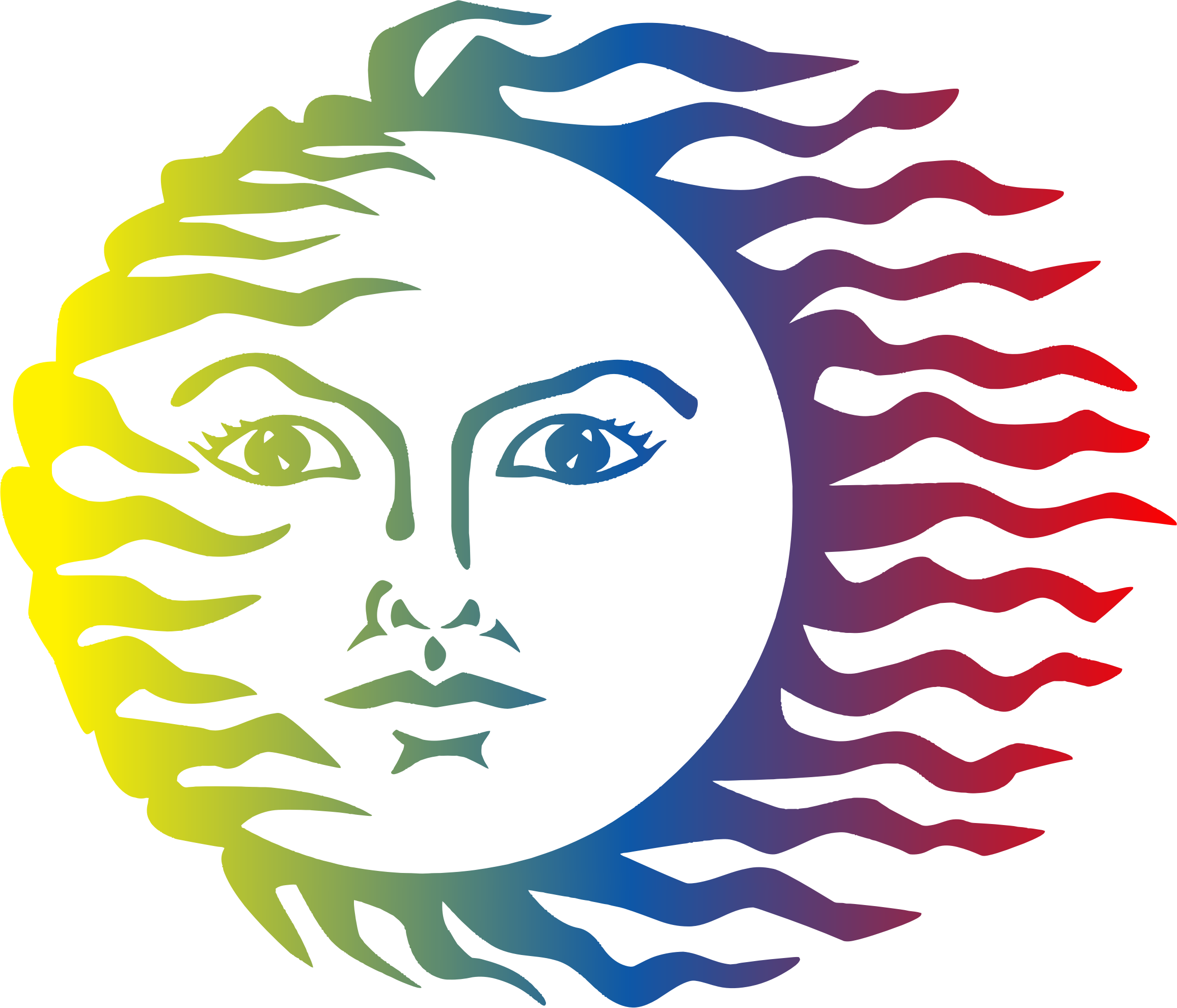 Colorful sun clipart clipart free download Clipart - Colorful Sun Face clipart free download