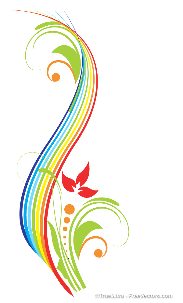 Colorful vector clipart clipart royalty free download Swirling flourish decorative colorful vector Vector   Free Download clipart royalty free download