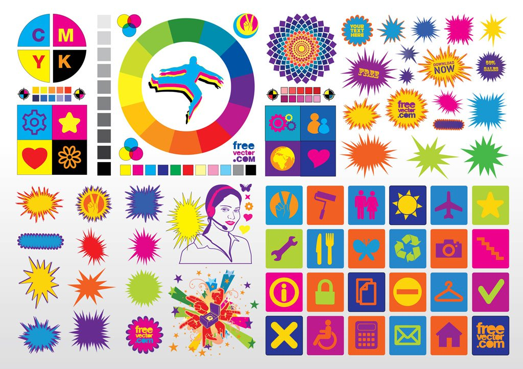 Colorful vector clipart clip art free download Colorful Vector Clip Art Vector Art & Graphics   freevector.com clip art free download