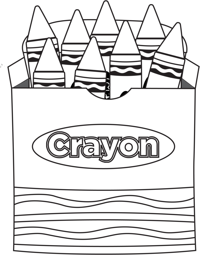 Coloring book and crayons clipart clip art transparent library Crayon Clipart Colouring Page Pencil And In Color At Make Your Own ... clip art transparent library