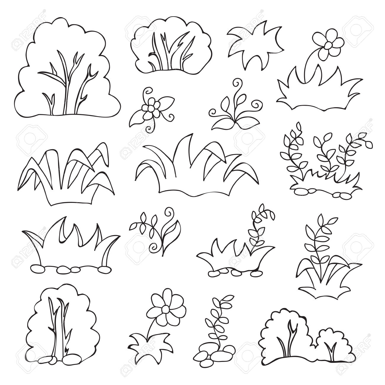 Coloring book grass in field clipart image royalty free library Coloring book grass in field clipart - ClipartFest image royalty free library