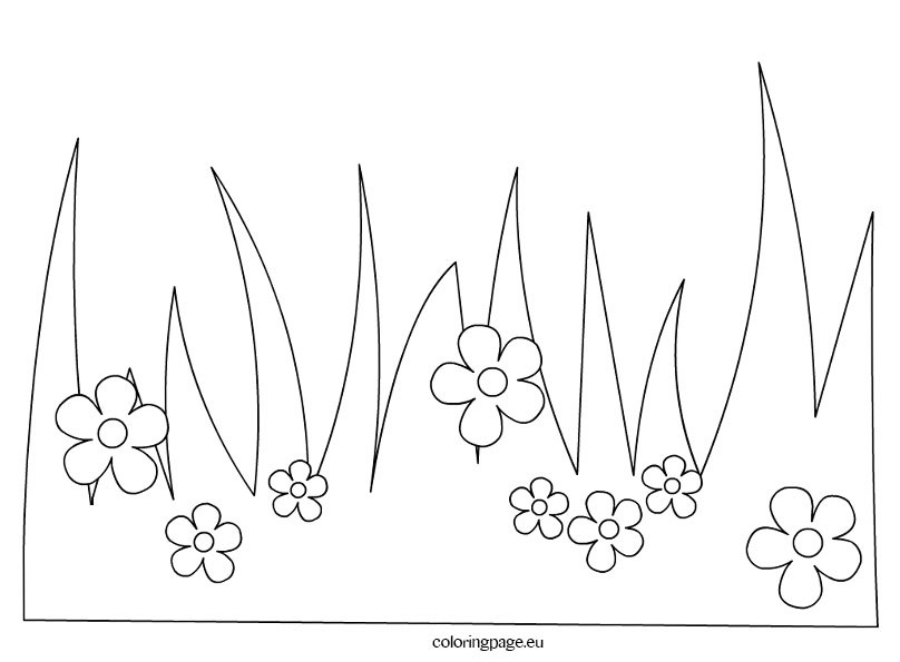 Pages free printable part. Coloring book grass in field clipart