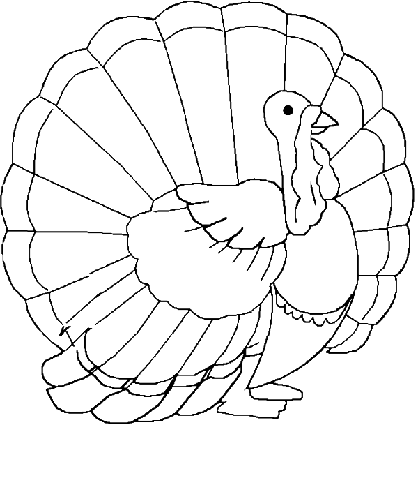 Coloring clipart of a turkey clip art royalty free download Coloring Pages: Turkey Coloring Pages Free and Printable clip art royalty free download
