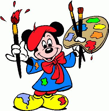 Coloring contest clipart clip free Painting area coloring mickey mouse the artist painter clip art ... clip free