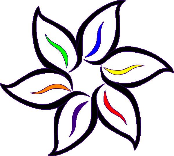 Coloring flower clipart graphic Multi-color Flower Clip Art at Clker.com - vector clip art online ... graphic