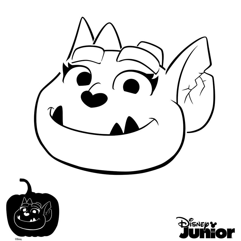Pumpkin color clipart vector free stock Pumpkin Stencil Vampirina Coloring Page | cora bday party | Pinterest vector free stock