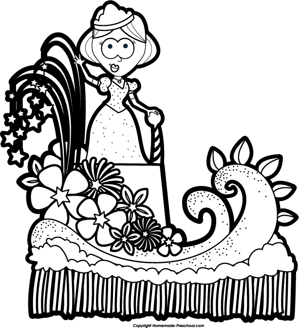 Thanksgiving Parade Online Coloring Page | 674x614