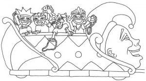 Coloring pages parade floats black white clipart clipart transparent stock Free Printable Mardi Gras Coloring Page - Free Coloring Sheets clipart transparent stock
