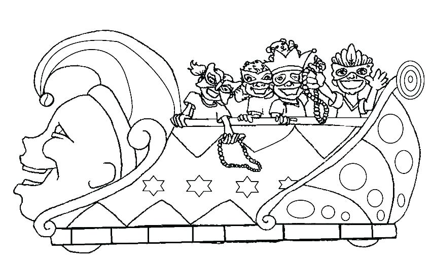 Coloring pages parade floats black white clipart graphic royalty free coloring: Mardi Gras Mask Coloring Page graphic royalty free