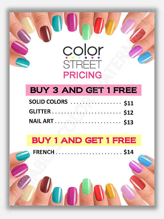 Colorstreet clipart clip art black and white download Color street price list, marketing printables, color stree flyer ... clip art black and white download