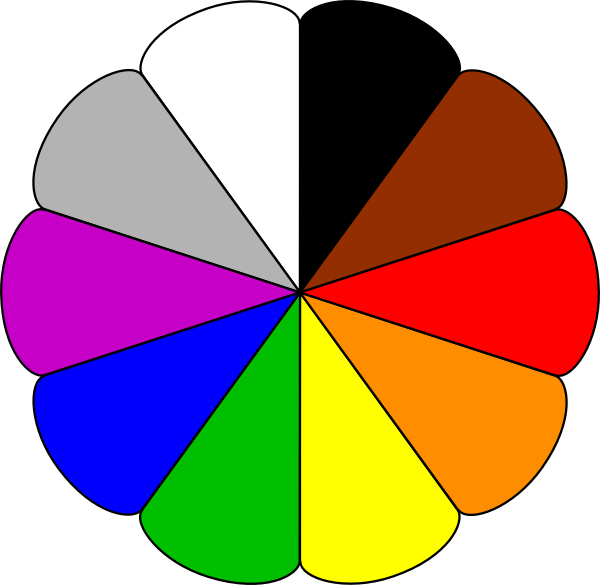 Free clipart colors graphic transparent library Flower Colors Clip Art at Clker.com - vector clip art online ... graphic transparent library