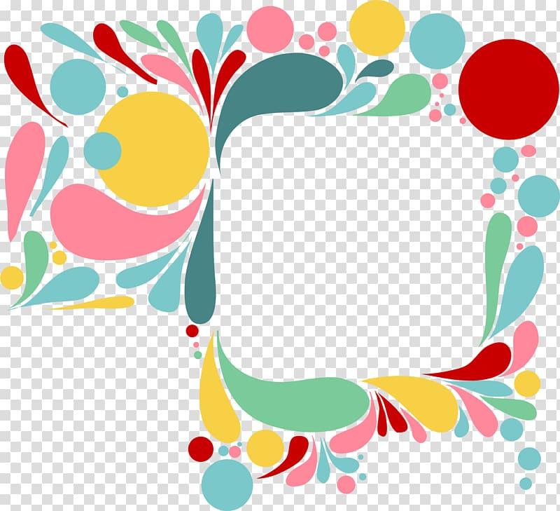 Colour drop clipart transparent Multicolored borderline, Color drop frame transparent background PNG ... transparent