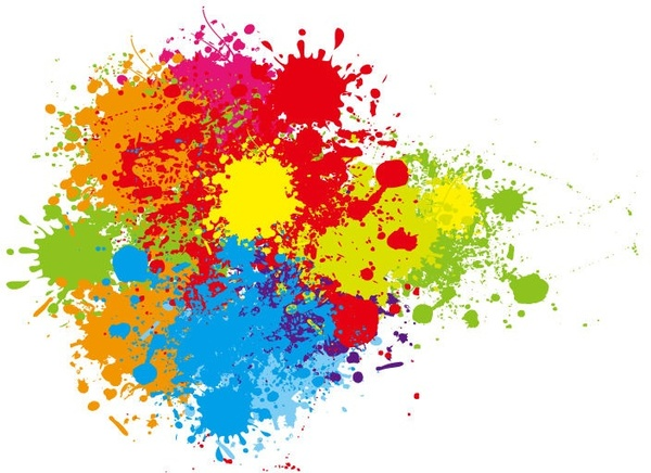 Colour splash vector clipart clipart royalty free Abstract colorful splashes vector graphic art Free vector in ... clipart royalty free