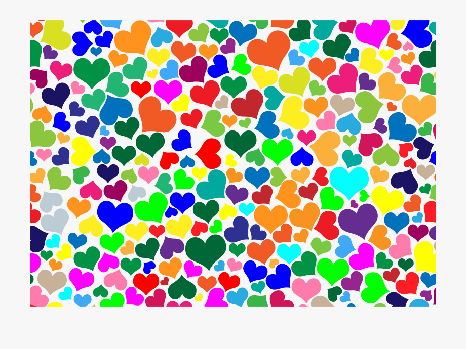 Colourful background clipart picture library download Colorful Hearts Background Clipart Desktop Wallpaper - Colorful ... picture library download