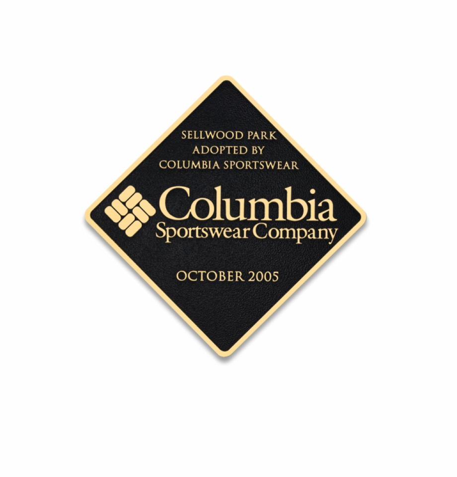 Columbia sportswear clipart png freeuse library Thin Brass Plaque - Columbia Sportswear Company Free PNG Images ... png freeuse library
