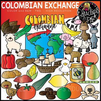 Columbian exchange clipart image transparent stock Colombian Exchange Clip Art Set {Educlips Clipart} image transparent stock